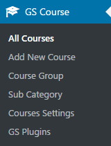 GS Course Plugin Menu